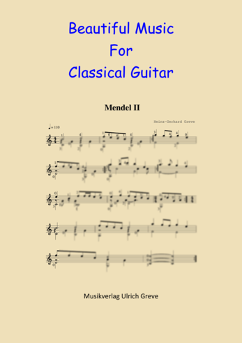 Beautiful Music For Classical Guitar, Second Edition