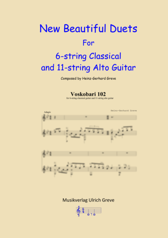 New Beautiful Duets For 6-string Classical and 11-string Alto Guitar