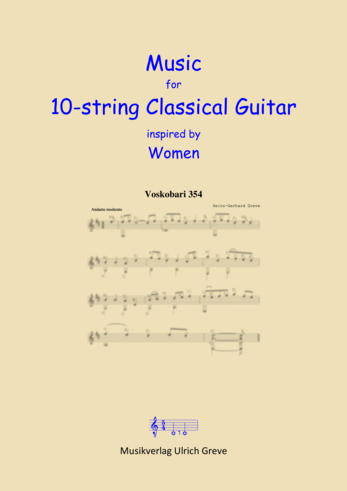Music for 10-string Classical Guitar inspired by Women