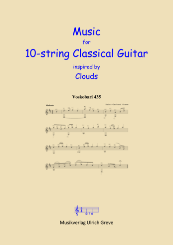 Music for 10-string Classical Guitar inspired by Clouds