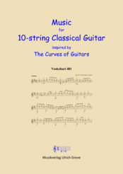 Music for 10-string Classical Guitar inspired by the Curves of Guitars
